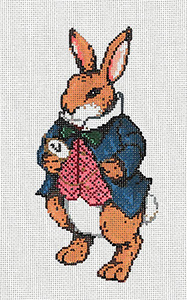 William - Stitch Painted Needlepoint Canvas from Sandra Gilmore