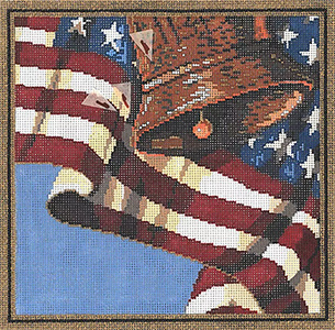 Freedom - Stitch Painted Needlepoint Canvas from Sandra Gilmore