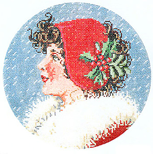 Merry Mary - Stitch Painted Needlepoint Canvas from Sandra Gilmore