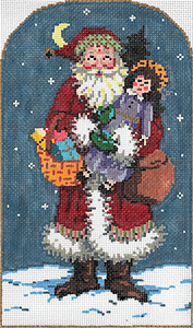 Kris 6 - Stitch Painted Needlepoint Canvas from Sandra Gilmore