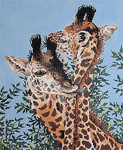 At Long Last Love - Stitch Painted Needlepoint Canvas from Sandra Gilmore