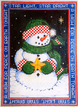 A Wish - Stitch Painted Needlepoint Canvas from Sandra Gilmore