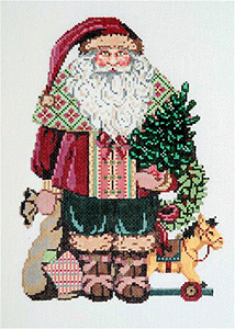 Klaus - Stitch Painted Needlepoint Canvas from Sandra Gilmore