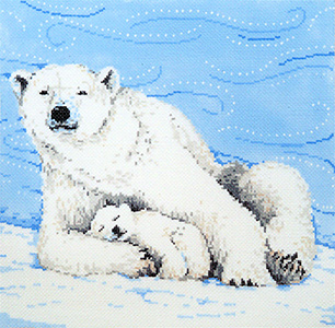 Blizzard - Stitch Painted Needlepoint Canvas from Sandra Gilmore