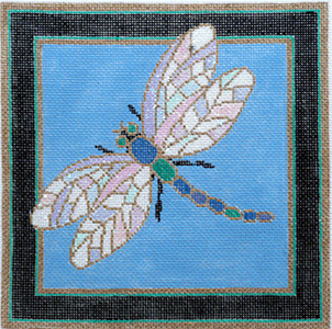 Dragonfly - Stitch Painted Needlepoint Canvas from Sandra Gilmore