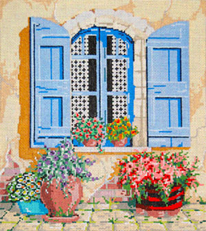 Bella - Stitch Painted Needlepoint Canvas from Sandra Gilmore