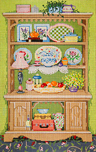 Cupboard - Stitch Painted Needlepoint Canvas from Sandra Gilmore