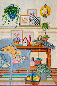 Eclectic - Stitch Painted Needlepoint Canvas