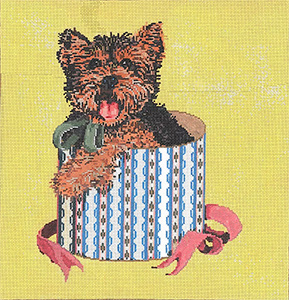 Jasper - Stitch Painted Needlepoint Canvas from Sandra Gilmore