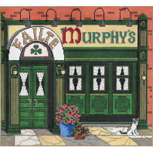 Murphy's - Stitch Painted Needlepoint Canvas from Sandra Gilmore with Perle Cotton Kit