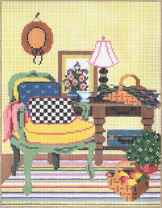 Mackenzie - Stitch Painted Needlepoint Canvas from Sandra Gilmore