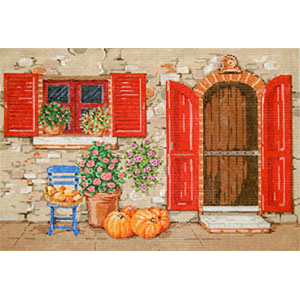 Toscana - Stitch Painted Needlepoint Canvas from Sandra Gilmore