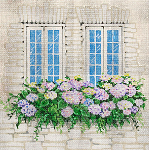 Tudor Garden - Stitch Painted Needlepoint Canvas from Sandra Gilmore