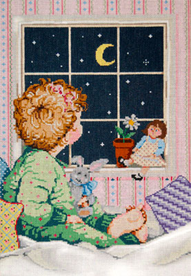 Amelia - Stitch Painted Needlepoint Canvas from Sandra Gilmore