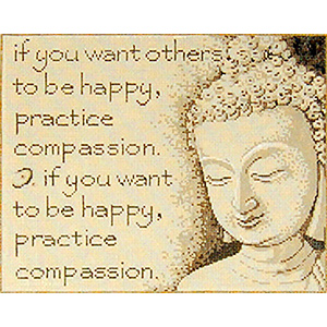 Compassion - Stitch Painted Needlepoint Canvas from Sandra Gilmore