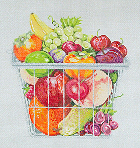 Fruitful - Stitch Painted Needlepoint Canvas from Sandra Gilmore