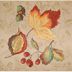 Fall Splendor - Stitch Painted Needlepoint Canvas from Sandra Gilmore