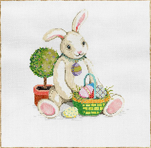 Bun Bun - Stitch Painted Needlepoint Canvas from Sandra Gilmore