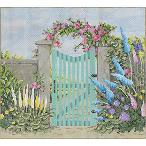 Nantucket - Stitch Painted Needlepoint Canvas from Sandra Gilmore