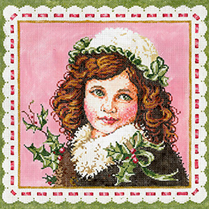 Clara - Stitch Painted Needlepoint Canvas from Sandra Gilmore