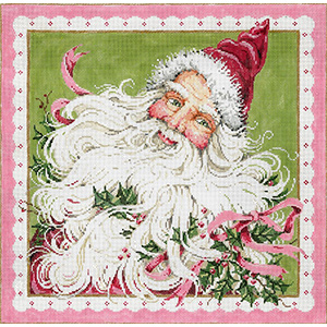 Suite Santa - Stitch Painted Needlepoint Canvas from Sandra Gilmore