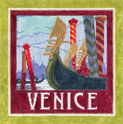 Venice - Stitch Painted Needlepoint Canvas from Sandra Gilmore