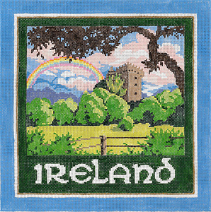 Ireland - Stitch Painted Needlepoint Canvas from Sandra Gilmore