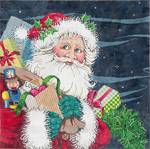 K. Kringle - Stitch Painted Needlepoint Canvas from Sandra Gilmore