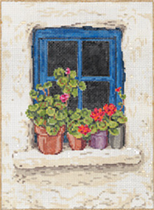 Kerry - Stitch Painted Needlepoint Canvas from Sandra Gilmore