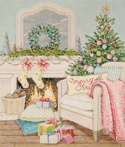 'Tis The Season - Stitch Painted Needlepoint Canvas