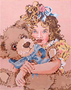 Forever - Stitch Painted Needlepoint Canvas from Sandra Gilmore