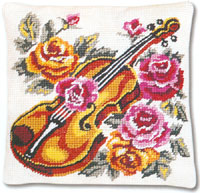 SEG de Paris Needlepoint Violin Quickpoint Cushion Kit