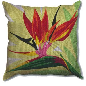 SEG de Paris Needlepoint Quickpoint Cushion Kit - Bird of Paradise