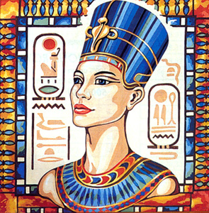 SEG de Paris Needlepoint Nefertiti Canvas
