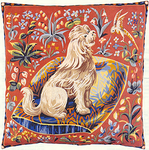 SEG de Paris Needlepoint Cushion Kit - Medieval Dog - Cluny
