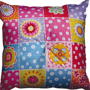 SEG de Paris Needlepoint Cushion Kit - Patchwork Cushion