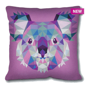 SEG de Paris Needlepoint Cushion Kit - Geometric Koala
