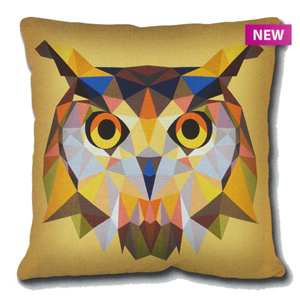 SEG de Paris Needlepoint Cushion Kit - Geometric Owl
