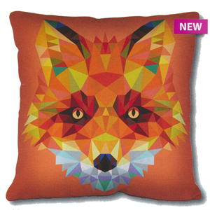 SEG de Paris Needlepoint Cushion Kit - Geometric Fox