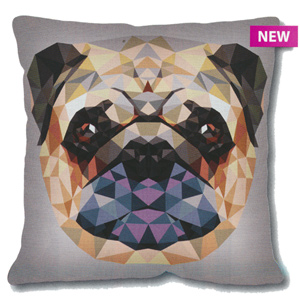 SEG de Paris Needlepoint Cushion Kit - Geometric Pug