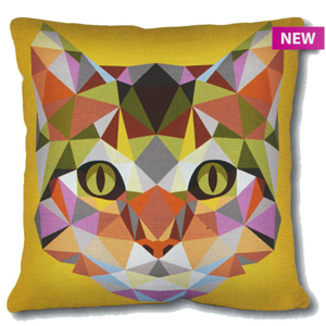 SEG de Paris Needlepoint Cushion Kit - Geometric Cat