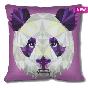 SEG de Paris Needlepoint Cushion Kit - Geometric Panda