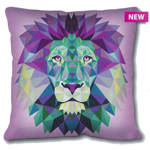 SEG de Paris Needlepoint Cushion Kit - Geometric Lion