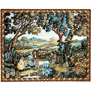 Margot Creations de Paris Needlepoint - The Mule Cart (Verdure au Muletier - Greenery and Muleteer)