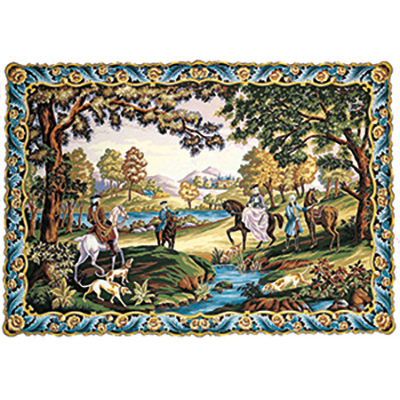 Margot Creations de Paris Needlepoint - Chasse Louis XV (Louis XV Hunt)