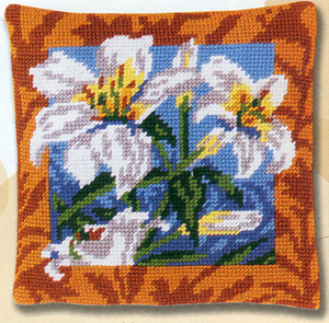 Margot Creations de Paris Needlepoint - Lys Blancs