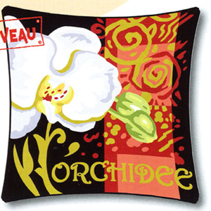 Margot Creations de Paris Needlepoint - Cushions - L'Orchidee