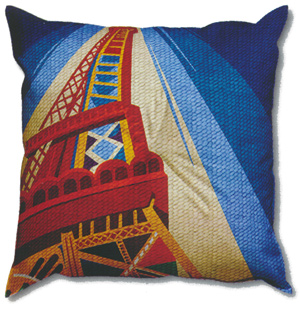 Margot Creations de Paris Needlepoint - Cushions - Tour Eiffel (d'apres Delauney)