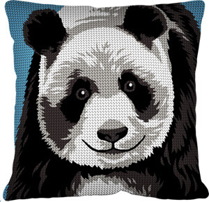 Margot Creations de Paris Needlepoint - Cushions - Panda