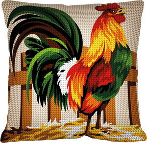 Margot Creations de Paris Needlepoint - Cushions - Coq (Rooster)